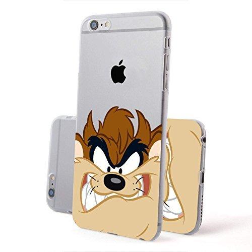 finoo | IPHONE 6 / 6S Lizensierte Hardcase Handy-Hülle | Transparente Hart-Back Cover Schale mit Looney Tunes Motiv | Tasche Case mit Ultra Slim Rundum-schutz | Tweety freut sich Taz Angry