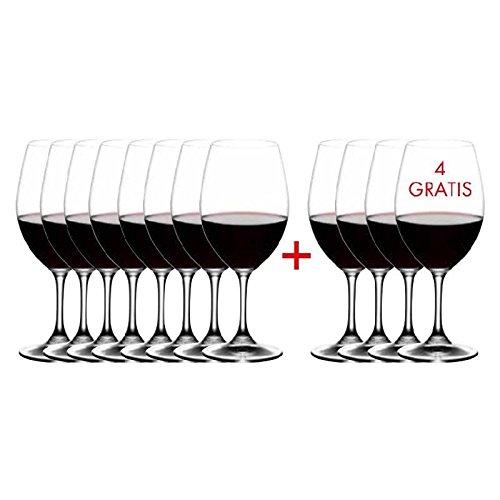 RIEDEL Ouverture Rotwein Kauf 12 Zahl 8, Rotweinglas, Weinglas, Trinkglas, Hochwertiges Glas, 350 ml, 7408/00 8 Riedel Vinum Cabernet