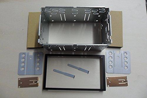 Kit Fissaggio Autoradio 2 DIN Carrello Cornice Universale Montaggio Stereo Gabbia