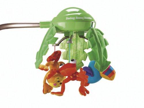 Fisher-Price K6077 – hamaca electrica para bebé, diseño de selva - 4