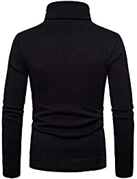 BUSIM Men's Long Sleeved Shirt Autumn Winter Casual Solid Color Half-High Collar Zipper Sweater Sweater Warm Jacket...