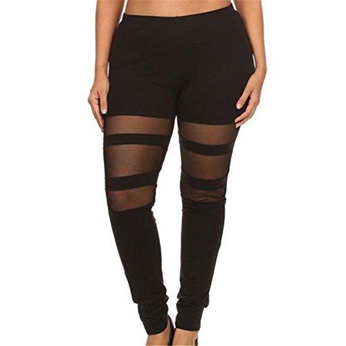 Legging Femme grande taille Yoga Pantalon - Juleya Collants Push Up pantalons de survêtement doux confortable pantalons jogging élastique Leggins pour Fitness Gymnastique D'entraînement noir b
