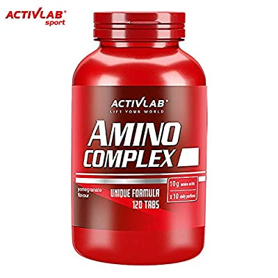 Amino Complex 120 Chewable Tablets | BCAA + Essential Amino Acids | L-Glutamine | Protein Pills | Anabolic Anticatabolic | Sport Supplement from Activlab