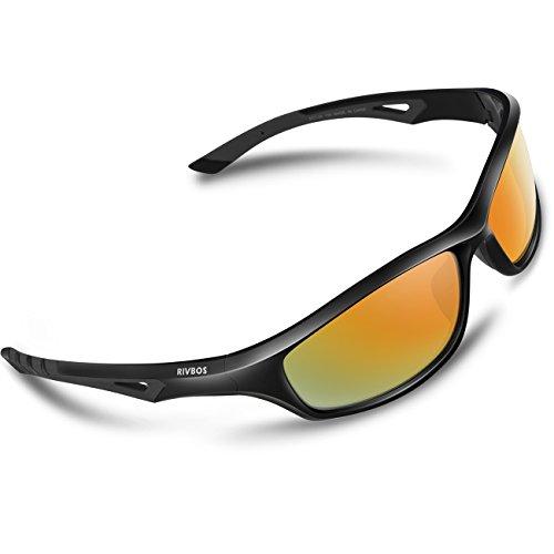 RIVBOS Polarisiert Radbrille Sportbrille Sonnenbrille Fahrradbrille UV400 Schutz Radsportbrille...