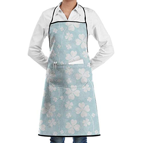 Drempad Schürzen St. Patrick's Day Bib Apron Chef Apron - with Pockets for Male and Female,Waterproof, Resistant to Droplets, Durable, Machine Washable, Comfortable, Easy Care ()