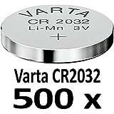 10 - 1000 Stk. (500 Stück) Variante frei wählbar Varta 2032 Knopfzelle im NEMT Pack