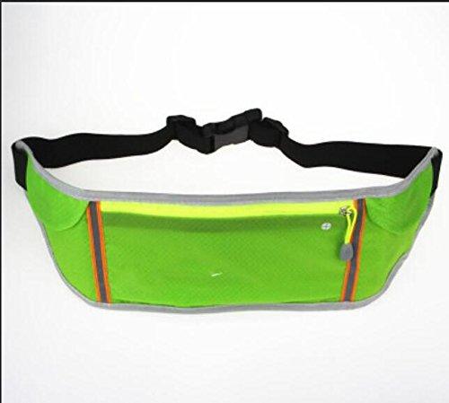 ZYT Heimlichkeit unter Pack Taschen outdoor-Ausrüstung Handy persönliche multifunktionale Marathon Männer und Frauen-Band fluorescent green