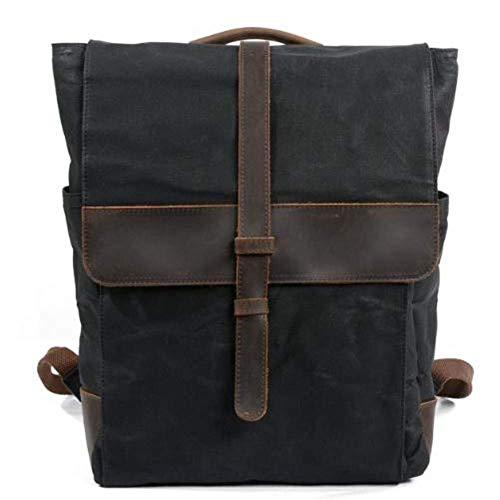 LULUDP Outdoorrucksack Taschen Retro Segeltuch-männlicher Schulter-Rucksack, Bewegungs-Bergsteigen-Beutel-im Freien Spielraum-Bewegungs-Fahrrad-Rucksack-Kamera-Rucksäcke, wasserdicht, Kursteilnehmer-S
