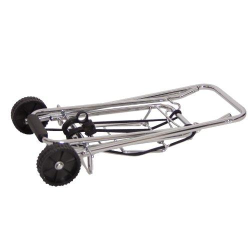 BRUBAKER Carrello portavaligie, carrello di trasporto con corde elastiche per il fissaggio dei carichi - ideale per compera e trasporto bagagli