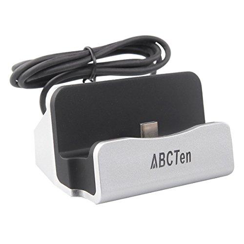 ABCTen Type-C Base de Carga Cargador para LG G5 Huawei P9 ...(Plata)