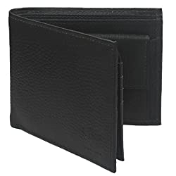 Krosshorn Leather Black Casual Regular Wallet (KW1079)