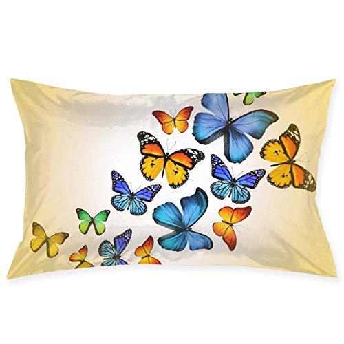 throw pillowcase Cute Butterfly Funny Pattern Kissenbezug - Zippered Kissenbezug, Pillow Protector, Best Pillow Cover - Standard Size 20x30 Inches, Double-Sided Print (16x28 Kissen Legen)
