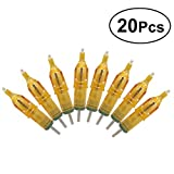 SUPVOX 20Pcs Professional Disposable Tattoo Needle Cartridges Sterile Short Tattoo Needle Fit Tattoo Cartridge Grips for Tattoo Machine Gun
