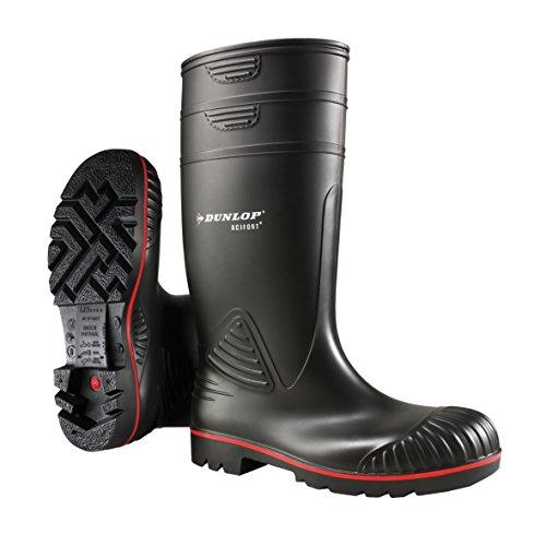 Dunlop A442031 S5 ACIF. KNIE ZWART 47, Unisex-Erwachsene Halbschaft Gummistiefel, Schwarz (Schwarz(Zwart) 00), 47 EU