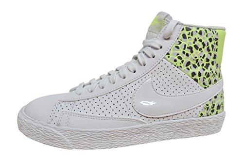 Nike Damen WMNS Blazer MID PRM Turnschuhe, Blanco White-Ghst Grn-Pr Pltnm, 42 EU