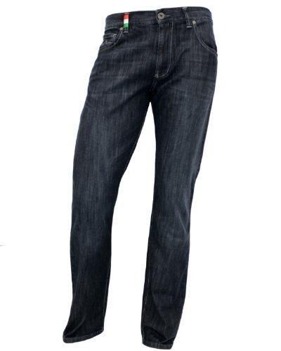 ALBERTO Jeans Stone T400 Denim in dunkelblau in 38/30 (Denim Gefärbte)
