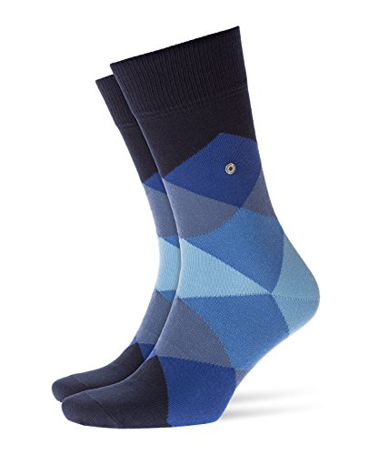 Burlington Herren Clyde modernes Muster Baumwolle 1 Paar Casual Socken, Blau (Marine 6120), 40/46