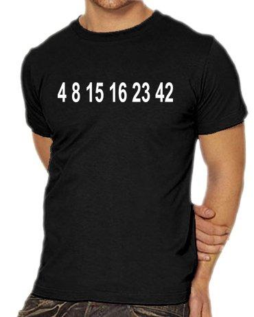 Touchlines Unisex/Herren T-Shirt LOST 4 8 15 16 23 Zahlen, black, XXXL, (Coole Videospiel Kostüme)