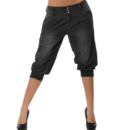 Mujer 3/4 Pantalón Corto Capri Pantalón Bermudas