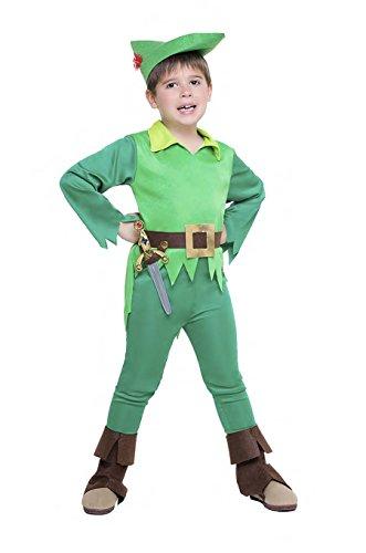 Disfraz Peter Pan para niños (talla 5-6 años)
