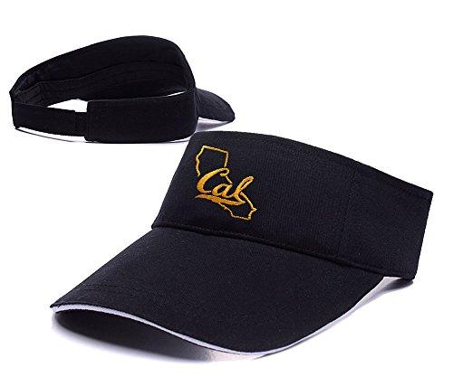 Sianda Cal Bears Navy Tradizione State Logo Visiera ricamo Golf Cappello Sole Cap, Uomo, Black Visor, Taglia unica