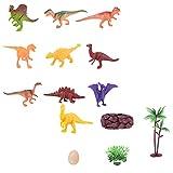 Mini Dinosaur Model Toys 11 pezzi Mini Dinosaur Toy Set Simulazione Plant Dinosaur Model Plastic Dinosaur Toy, Giocattoli per ragazzi e ragazze