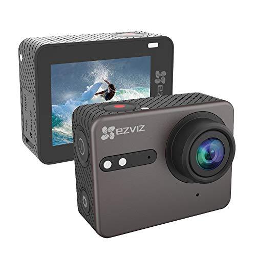 """EZVIZ Action Cam 4K Водонепроницаемый с голосовым управлением и WiFi Bluetooth, HD IPS Touchscreen от 2 """", угол обзора с Guadrangolo 150 °, пульт дистанционного управления iOS / Android App Модель S6"""