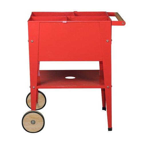 Herstera Garden 08917601 - Cuadrado ruedas, 60 x 60 x 84 cm, color rojo