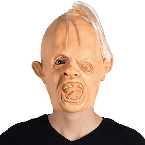 Finalshow Goonies Trägheit Maske Latex Männermaske Kopf Kostüm für Halloween Weihnachten Party Dekoration Karneval Schielt Masken
