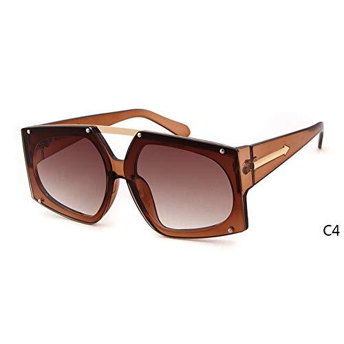 ZRTYJ Sonnenbrille Übergroße Sonnenbrille mit klaren Gläsern Coole Pfeilform Kristallrosa W Roségold Kw Sonnenbrille Transparente Schattierungen