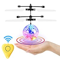 GEEKERA Flying Ball, Flying Toys Remote Control Helicopter Magic RC Kids Toys with Flashing LED Lights Ideal Gifts for Kids Boys Girls Teenagers Adults