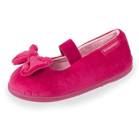 Chaussons ballerines fille gros nœud - Rose - Taille 28 EU