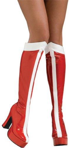 Rubie 's Offizielle Wonder Woman Stiefel Knie Hoch–Damen Erwachsene Kostüm Große 8–9Jahre