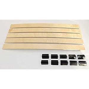 BOSSASHOP.de Set: Federholzleisten (8x55mm) + Befestigungs Kappen zur Selbstmontage für Futon, Bett oder Caravan…
