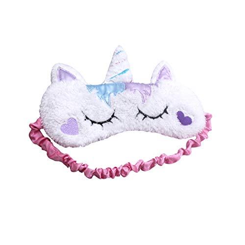 dressfan Einhorn-Schlafmaske, niedliches Einhorn-Horn, weicher Plüsch, Augenbinde für Frauen und Mädchen