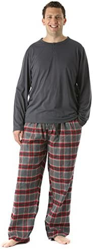 HEFASDM Men Short Sleve Comfort Striped Lounger Pajama Plaid Sleepwear Set