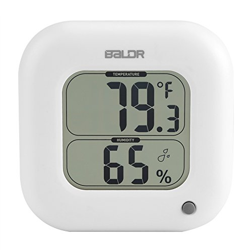 Fdit Mini LCD Termometro Digitale per Ambienti Interni Umidità Temperatura Display Parete Max/Min Igrometro Elettronico(White)