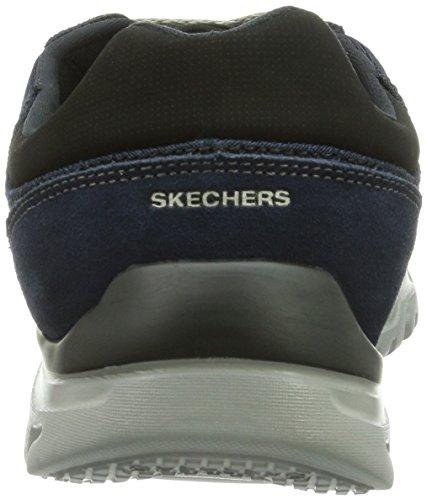 Skechers L-fitcomfort Life, Baskets Basses homme Bleu - Blau (NVGY)