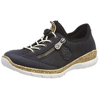 Rieker Damen N4263 Sneaker, Blau (Pazifik/Marine/Schwarz), 39 EU