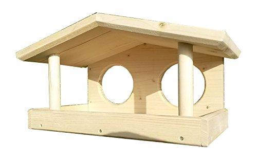 Design Vogelhaus, Vogelfutterhaus, Vogelhäuschen zum bemalen, Holz, Handarbeit, 36x20x20, Schreinerqualität - 2