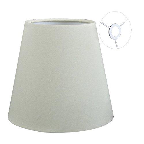 Eastlion 9 * 14 * 13cm Flachs Kerze Kronleuchter Lampenschirm Wandleuchte Pendelleuchte Schirm, Beige mit Schraube E14