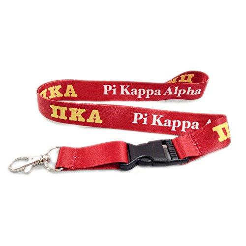 Scotty PI Kappa Alpha Brüderlichkeit Buchstabe Lanyard Griechischen Schlüsselanhänger Befestigung Pike - Rosenkranz Clip