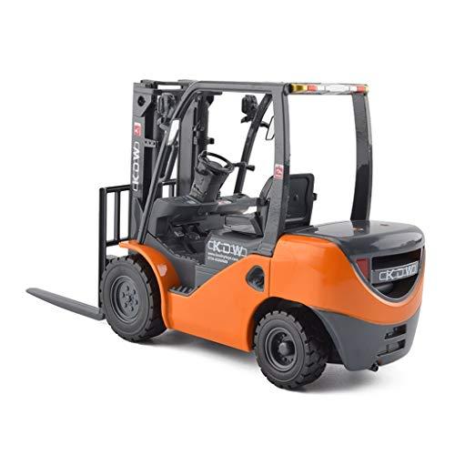 IVNGRI-Auto Model Großstapler im Maßstab 1:20 Modelldruckguss - Legierung Simulationstechnik Fahrzeugmodell Kinder Junge Spielzeug - 18,5 x 5,5 x 10 cm - Orange (Auto Nissan Kit Model)