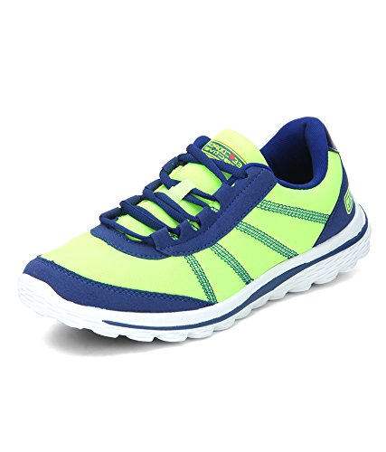 Lee Cooper Men's Lime and Blue Leather Running Shoes - 7 UK/India (41 EU)  available at amazon for Rs.1101