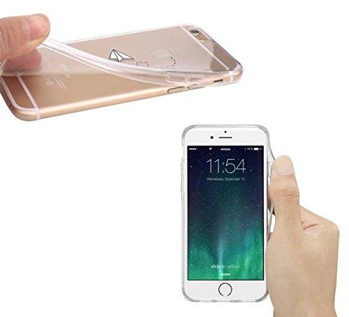 Cover iPhone 6/6S Plus Trasparente Creativo morbido Silicone Luce e sottile TPU arte pittura Serie phone case DECHYI Design# 20
