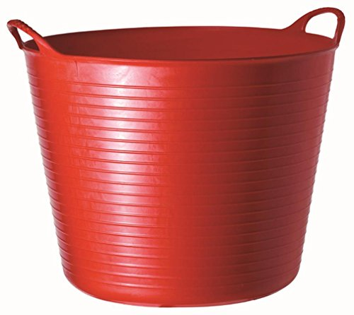 Tubtrugs - Bacinella da 26 l in materiale flessibile rosso
