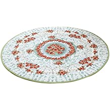 LvRao Alfombra shaggy redonda linda flor colores de decoracion alfombras y tapetes para salon dormitorios # Verde 80cm