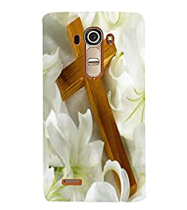 Vizagbeats cross on lillies Back Case Cover for LG G4::LG G4 H815