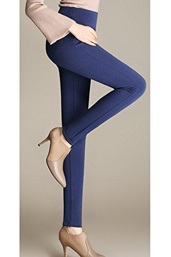 Femmes La Taille Haute, Des Jambières YACUN Chevilles Mince Crayon Pantalon blue