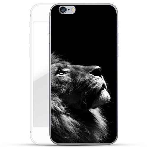 Motif Serie 2 Coque Pour Iphone - Bleu Marine Bois, Iphone 6 Plus / 6S plus Aspect Fourrure De Lion V2